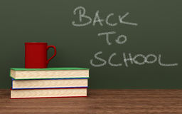 Back to school. Concept. 3d rendered illustration Royalty Free Stock Image