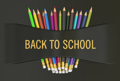 Back to school concept, 3D rendering Royalty Free Stock Photography