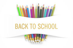 Back to school concept, 3D rendering Royalty Free Stock Photo