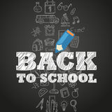 Back to school concept. Different education symbols Stock Images
