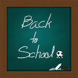 Back to school concept  on green chalkboard Stock Photos