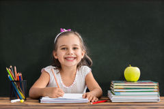 Back To School Concept, Happy Child Studying royalty free stock photos