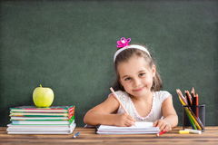 Back To School Concept, Happy Child Studying. Back To School Concept, Happy Smiling Child Studying Stock Images