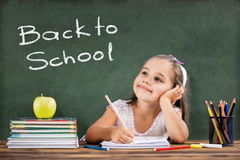Back To School Concept, Happy Child Studying Stock Photography