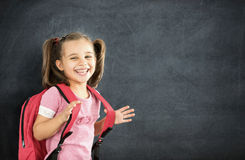 Back To School Concept, Happy Schoolgirl Studying Royalty Free Stock Photo