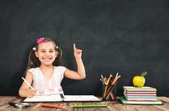 Back To School Concept, Happy Smiling Student Studying stock image