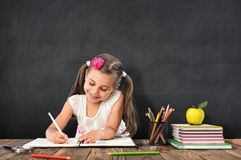 Back To School Concept, Happy Smiling Student Studying royalty free stock images