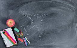 Back to school concept with high expectations Royalty Free Stock Images