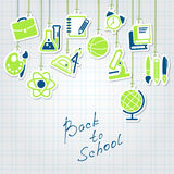 Back to school concept and icon set Royalty Free Stock Image