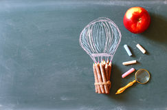 Back to school concept with info graphics sketch Stock Image