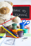 Back to school concept with inscription Royalty Free Stock Image