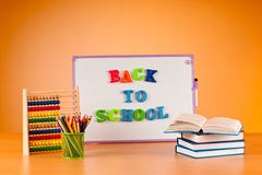 Back to school concept with  items Stock Photos
