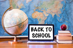 Back to school - concept on laptop Royalty Free Stock Images