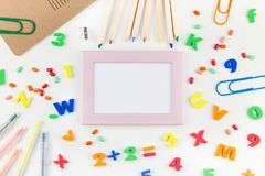Back to school concept with office supplies Royalty Free Stock Image