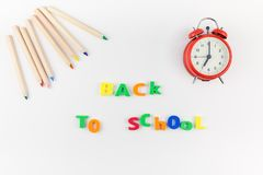 Back to school concept with office supplies Royalty Free Stock Photo
