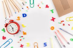 Back to school concept with office supplies Stock Image
