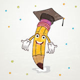 Back to School concept with pencil. stock illustration