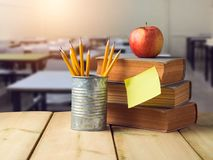 Back to school concept with pencils Stock Image