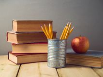 Back to school concept with pencils Stock Photos