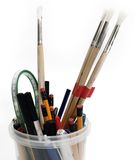 Back to school concept of pens and pencils Royalty Free Stock Photo