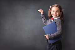 Back To School Concept, Portrait of Happy Smiling Child Student stock image
