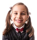 Back To School Concept, Portrait of Happy Smiling Child Student Isolated on White royalty free stock image