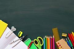 Back to school concept. School supplies Stock Photo