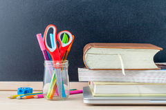 Back to school concept with school supplies Royalty Free Stock Photo