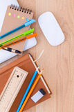 Back to school concept with school supplies . Stock Photos