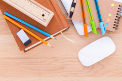 Back to school concept with school supplies . Royalty Free Stock Photo