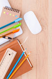 Back to school concept with school supplies Royalty Free Stock Photography