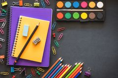 Back to School Concept with Stationery Supplies Stock Photography