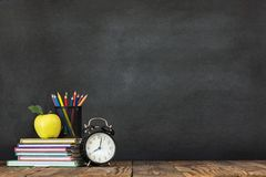 Back to School Concept with Stationery Supplies stock photo