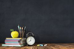 Back to School Concept with Stationery Supplies royalty free stock image