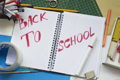 Back to school concept. With supplies and accessories Stock Photography