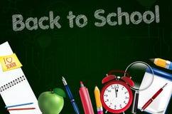 Back to school concept template Stock Photos