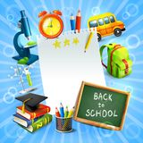 Back to school concept template Royalty Free Stock Photography