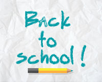 Back to school concept text on paper Stock Photography