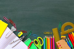 Back to school concept. Top view of school supplies Royalty Free Stock Image