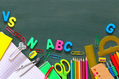 Back to school concept. Top view of school supplies Royalty Free Stock Photo