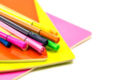 Back to school concept. various stationary on white Royalty Free Stock Photography
