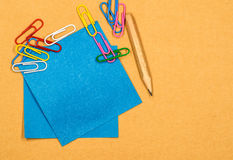 Back to school concept. various stationary on white Stock Images
