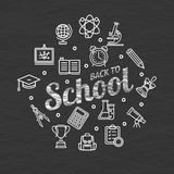 Back to School Concept. Vector Stock Images