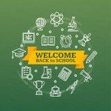 Back to School Concept. Vector Stock Photos