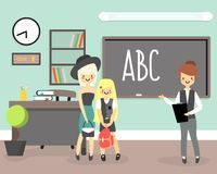 Back to school concept vector illustration in flat style Stock Photo
