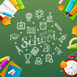 Back to School Concept. Vector Royalty Free Stock Images
