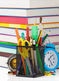 Back to school concept on white Royalty Free Stock Photography