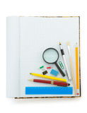 Back to school concept on white Royalty Free Stock Photos