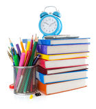 Back to school concept on white Stock Photography