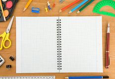 Back to school concept on wood Royalty Free Stock Images